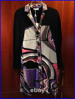 100%authentic Emilio Pucci Cosmo Print Shirtdress Dress size 42 / 8 brand new