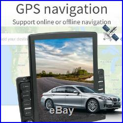 1DIN Rotatable 10.1inch Android 9.1 HD Quad-core 2+32GB Car Stereo Radio GPS Nav