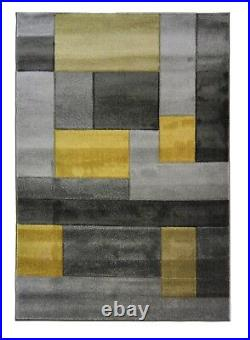 Cosmos Abstract Blocks Ochre Yellow Grey Hand Carved In Various Sizes