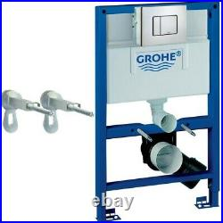 GROHE 38526 Rapid SL 3 in 1 WC Set 0.82m Concealed Frame, Cistern, Cosmo Plate