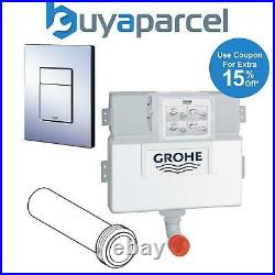 Grohe 38422 WC Concealed Cistern Dual Flush 38732 Cosmo Chrome Plate 37489 Pipe