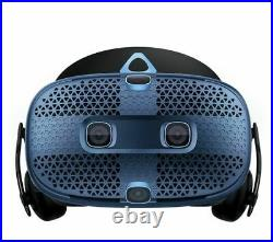HTC Vive Cosmos Virtual Reality Headset Controllers PC Full VR Kit Black Blue