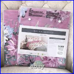 LAURA ASHLEY Two Cosmo Printed Pink Fuchsia Housewife Pillowcases BRAND NEW