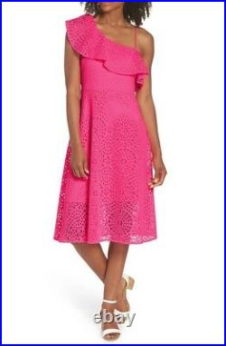 Lilly Pulitzer Callisto Dress Size 00 Pink Cosmo Sea Urchin Terry Lace Brand New