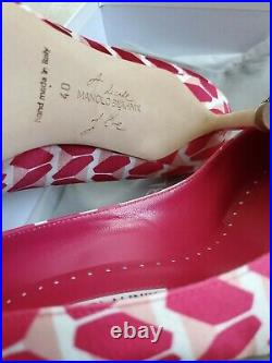 Manolo Blahnik Hangisi Cosmo (A Decade of Love) Pump Size 40/US 10 New In Box