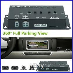 New 360° Parking View With Front/Rear/Right/Left 4 Cameras DVR &Video Monitoring