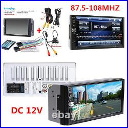 New 7 Touch Screen Car Audio Stereo MP5 Player FM BT + Rear View Camera