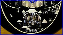 New Rhythm Musical Wall Clock Velvet Cosmos With 30 Melodies 4mh428wu06