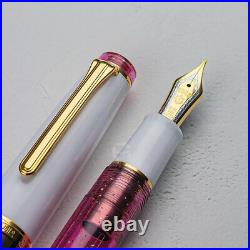 Sailor x Wancher Pro Gear Fountain Pen Pink Cosmo 21K Japan Limited +2 refill