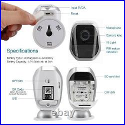 Solar Powered Security Camera Two Way Audio, Motion Detection Not Ring Arlo