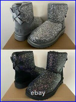 UGG Classic Mini Bow Cosmos Chunky Glitter Booties Women's Shoes