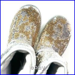 UGG Classic Short Women's Size US 7 Cosmos Sequin Sparkly Boots Gold Silver
