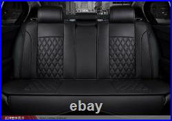 Universal Luxury Full PU Leather Car Seat Cover Cushion 3D Surround Breathable