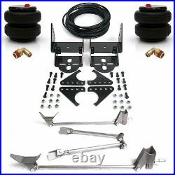 Universal Triangulated 4 Link + Rear 2600lbs Bolt On Air Ride Bag Suspension Kit